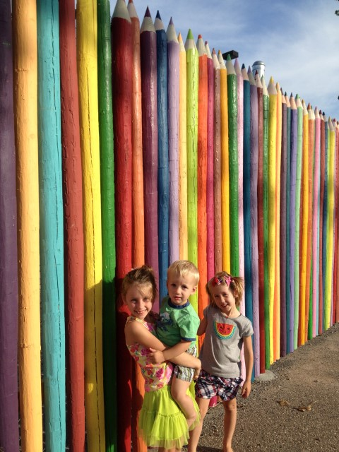 Pencil Fence with kids-Lexi waa (Small)